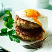 Ham and potato hash cakes