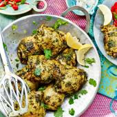 Barbecued chicken with chermoula