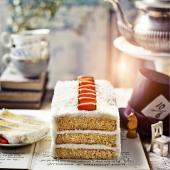 The White Rabbit coconut and carrot cake