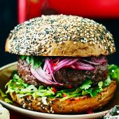 Thai-style onion burger