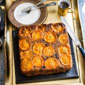 Mincemeat, clementine and almond cake