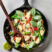 Thai turkey stir-fry with chilli and basil