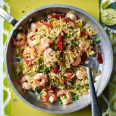 Spicy prawn and vegetable pilau