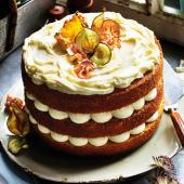White chocolate almond layer cake