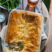 Chicken, herb and golden ale pie