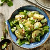 Jersey potato salad with Thai flavours