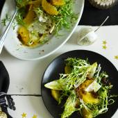 Chicory, gingerbread and orange salad