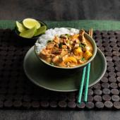 Spicy thai pork curry