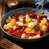 Chipolata and potato hash
