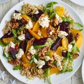 Beetroot, orange and quinoa salad