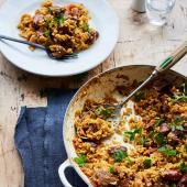 Middle Eastern lamb pilaf
