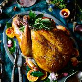 Honey-spiced Christmas turkey