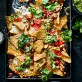 Sweet chilli chicken nachos