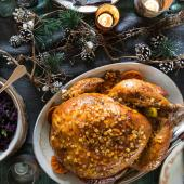 Sticky citrus and spice turkey