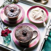 Black Forest microwave pud