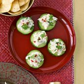 Crab cucumber rounds