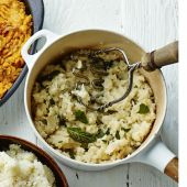 Blue cheese, celeriac and sage mash