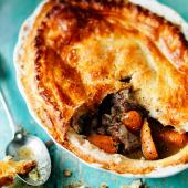 Beef and carrot pie