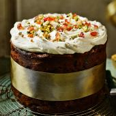 Decoration idea: Naked Christmas cake