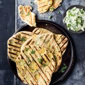 Barbecued Masala potato-filled flatbreads