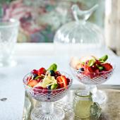 Basil and lemon summer berry salad