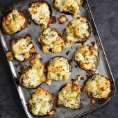 Fish pie potato skins