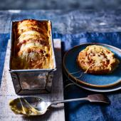 Cheese and Marmite crumpet loaf