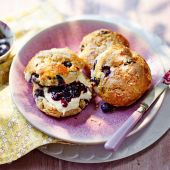 Blueberry, coconut and lime scones