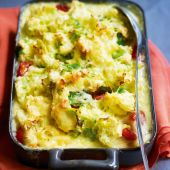 Fish pie with colcannon topping