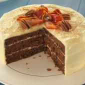 Cinnamon and orange carrot cake