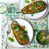 Turkish stuffed aubergines