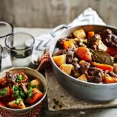 Slow-cooked beef stew with gremolata