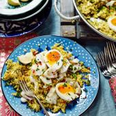 Cauliflower rice and coconut kedgeree