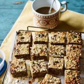Coconut, banana and date breakfast squares