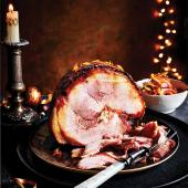 Hot-honey glazed ham