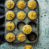 Orange, pistachio and polenta drizzle cakes
