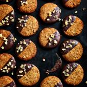 Chocolate-dipped gingernuts