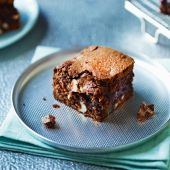 Chocolate, Brazil nut and ginger brownies