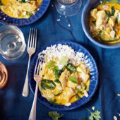 Turkey and spinach curry