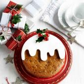 Tropical Christmas pudding cake