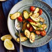 Cumin-spiced courgettes and tomatoes