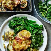 Lemon, pineapple and herb-roasted chicken