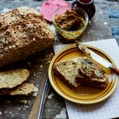 Simple soda bread with whipped Marmite butter