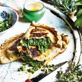 Herb-stuffed flatbreads