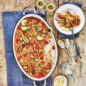 Spanish fennel, olive and tomato rice
