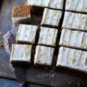 Parsnip and pecan traybake