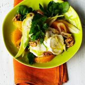 Orange & fennel salad with goats' cheese