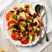 Cheese and tomato salad platter