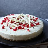 Double ginger and white chocolate cheesecake