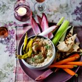 Celeriac and hazelnut 'houmous'